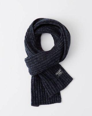 【全新真品 現貨】Abercrombie & Fitch 舒適羊毛圍巾 Ribbed Scarf A&F AF