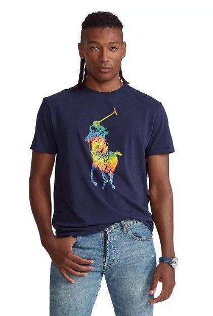POLO Ralph Lauren 大馬 短袖 T恤 彩色 大馬 素T 藍色 成人款