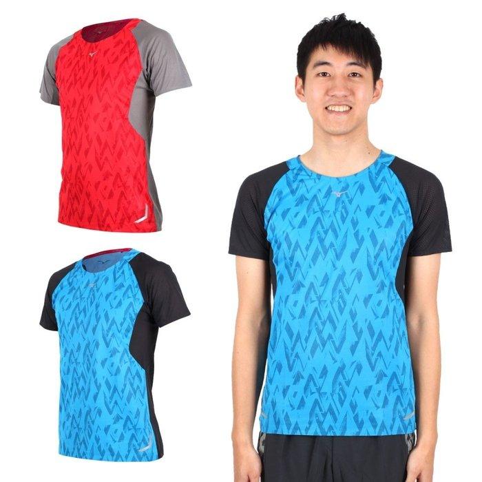 MIZUNO 男路跑短袖T恤(免運 短T 慢跑 路跑【03312785】≡排汗專家≡