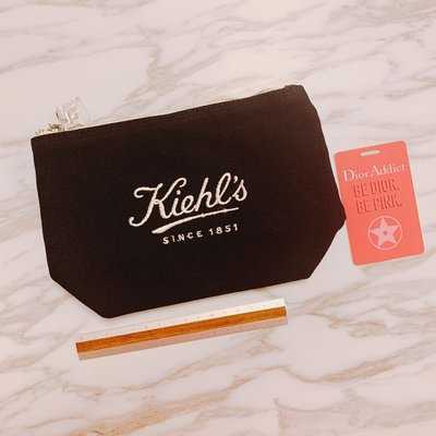 $38 kiehls kiehl's medium size makeup bag black color 黑色 中size 化妝袋