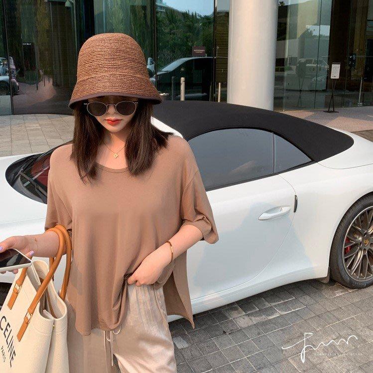 ❤Princess x Shop❤夏天就要這種薄薄軟軟又舒服好穿寬鬆開岔T恤TM09-49-10韓國同款