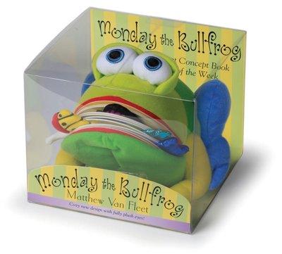 *小P書樂園* Monday the Bullfrog: A Huggable Puppet Concept Book