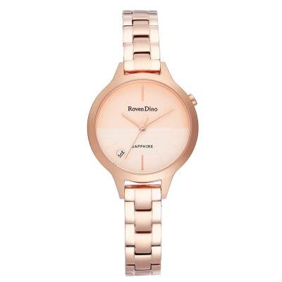 【幸福媽咪】Roven Dino 羅梵迪諾 公司貨 雙色面盤女錶RD739RG(玫瑰金)