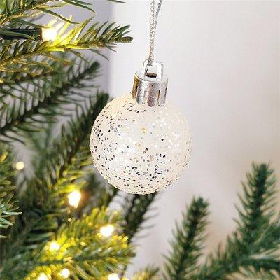 3件 聖誕節裝飾品聖誕球七彩白色球