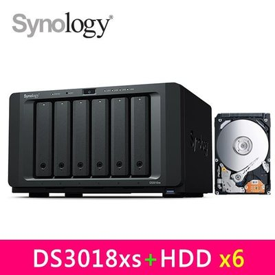@電子街3C特賣會@全新到府安裝 群暉 Synology DS3018xs,附Seagate Pro 2TB 硬碟*6台