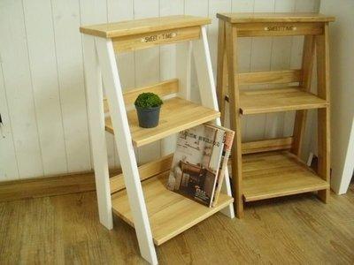 收納架 松木 實木 置物架**樂在幸福**木作坊 ~A108~松木層架-白色+淺金橡木色~