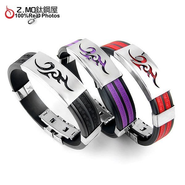 316L不生鏽 西德鋼多種款式顏色手環 運動手環 情侶手環 單條價【CHES007】Z.MO鈦鋼屋