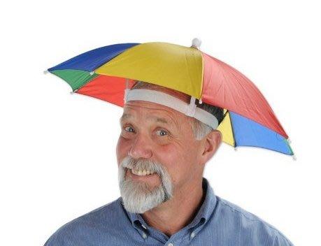 傘帽 帽子傘 雨傘 彩虹傘