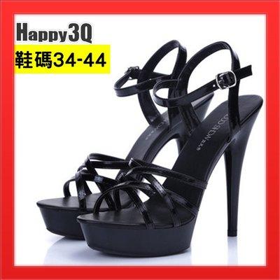 細跟高跟鞋超高跟13cm女鞋子歐美風Show girl涼鞋-白/黑/紅34-41【AAA4750】