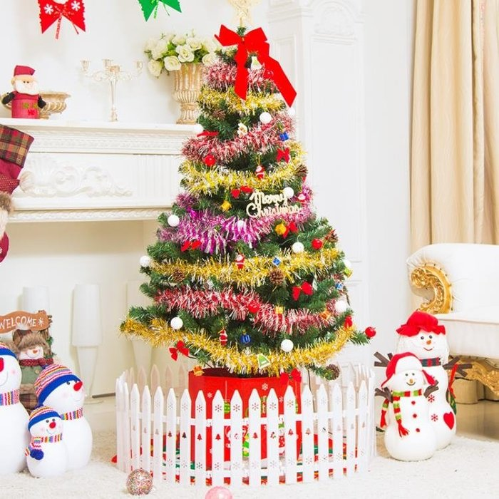 圣誕節60cm1.5米1.8米圣誕樹套餐裝家用小迷你加密大型發光裝飾品