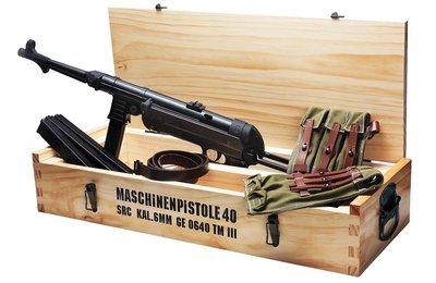 JHS((金和勝 生存遊戲專賣))免運費 SRC MP40 實木收藏箱 (不含槍)