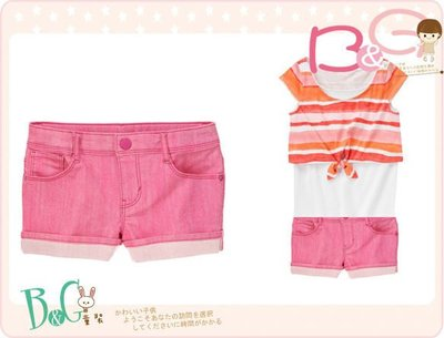 【B& G童裝】正品美國進口GYMBOREE 粉紅色短褲7,8號6-7-8yrs