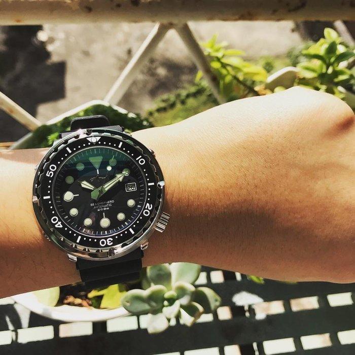【六樓先生】鯊魚罐頭sharkmaster 大錶徑 自動上鍊機械錶 潛水錶(SBBN015/SBBN017同款)