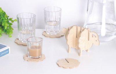 【♥豪美禮品♥】含稅價-綿羊杯墊 木質...