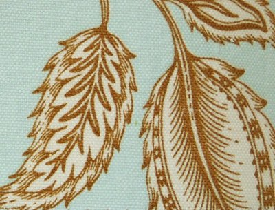 【LondonEYE】SIENNA •  ARTIST湖水綠X美國進口純棉傢飾布X復古英倫藝術感 率性慵懶刺葉