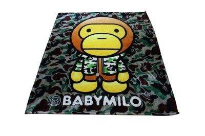 嘉芸的店 日本帶回APE猿人 迷彩毛毯 珊瑚絨 水貂絨 飛機毯 保暖毯 日本毛毯 彌月禮盒 精緻毛毯禮盒130*150