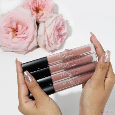 英國代購 HUDA BEAUTY Liquid Matte 裸色/乾燥玫瑰霧面唇釉迷你組合