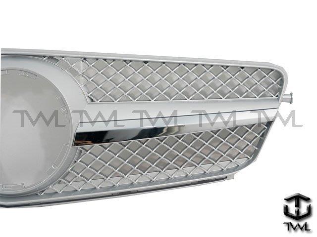 《※台灣之光※》全新BENZ W204 C200 C250 C300 C180跑車式 CL樣式單線大星亮銀水箱罩台灣製