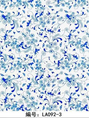 水轉印膜 青花瓷 50cm寬 水添色水轉印~LA092~3