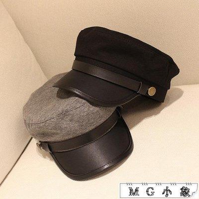 韓版海軍帽平頂帽子復古小禮帽
