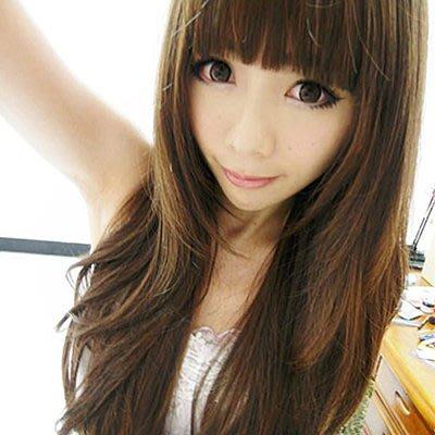 ☆雙兒網☆高仿真耐熱整頂假髮~超甜女模代言【MA111】混血天使夢幻甜女孩長捲髮