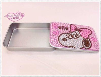 小公主日本精品 Hello Kitty 史努比 小物盒/置物盒/ 飾品盒 貝兒 貝拉大臉粉鑽90019104