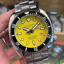 LAVA II - STEEL LS233 NETHUNS AUTOMATIC WATCH 黃色格仔紋面 手錶 600m防水45mm