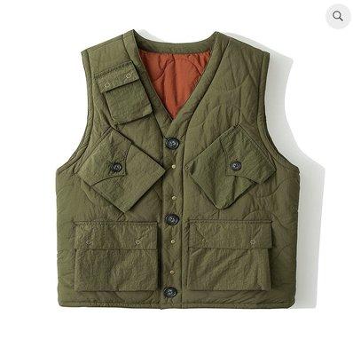 WaShiDa Club Stubborn - PC1 Vest 2.0 綠橘 鋪棉背心 兩面著用