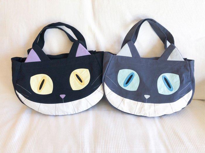 日本卡拉貓~笑嘴惡魔貓大容量造型側背包
