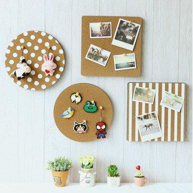 (壹時尚)六邊形彩色軟木板照片牆背景牆背膠個性創意圓形方形圖釘板留言板