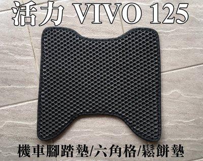 大高雄【阿勇的店】MIT運動風 機車腳踏墊 SYM 三陽 VIVO 活力 125 專車專用 EVA蜂巢式鬆餅墊