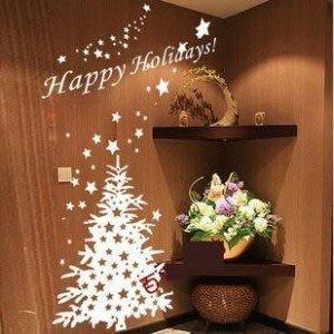 小妮子的家@聖誕樹壁貼/牆貼/玻璃貼/磁磚貼/汽車貼/家具貼