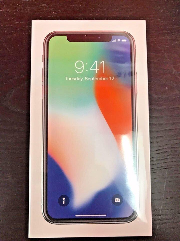 (缺貨)刷卡24期零利率 每期 $2166 保固一年 台灣公司貨 全新未拆 iPhone X 256G 銀色