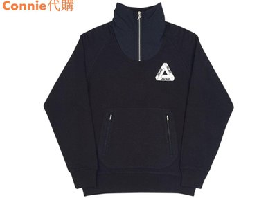 Connie代購 Palace Skateboards 17FW P Crepe Zip Funnel 長袖 連帽 帽Tee