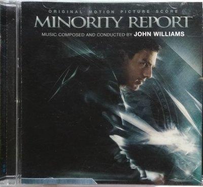 《絕版專賣》關鍵報告 / Minority Report 電影原聲帶 John Williams (美版)