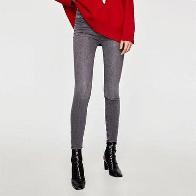 H & M fashion grey denim skinny jeans leggings hollister 外國靚灰色牛仔彈性貼身長褲 牛仔褲 襯衫