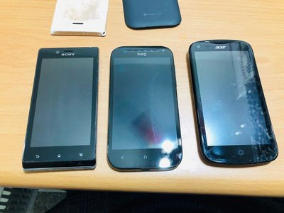 ☆手機寶藏點☆Sony C2105、HTC One S520e、Acre v370 3台550 歡迎貨到付款 聖711