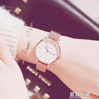 手錶女學生韓版簡約潮流ulzzang女士手錶防水時尚款2019新款櫻花QM