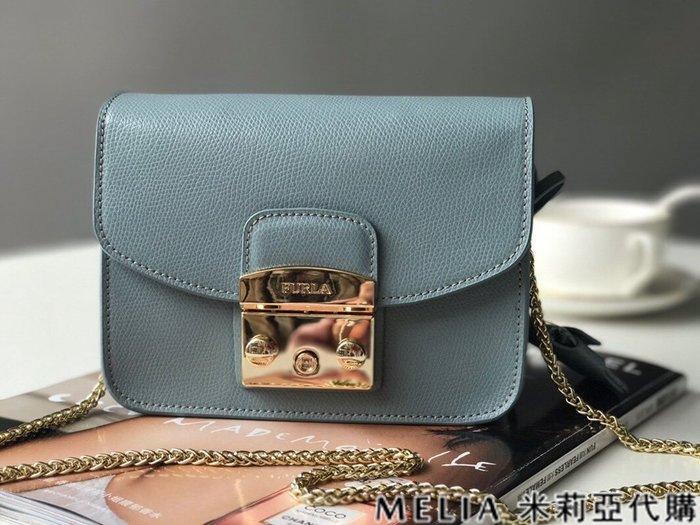 Melia 米莉亞代購 商城特價 數量有限 每日更新 FURLA 經典小方 淑女包 單肩斜背包 素色來襲 淺藍色