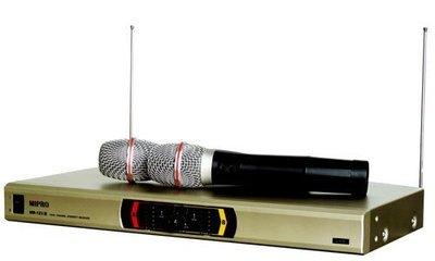 【kiho金紘】MIPRO嘉強 MR-123 雙頻道無線麥克風系統~搭配2只無線麥克風