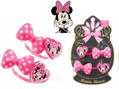 *Miki日本小舖*日本迪士尼Minnie Mouse 米妮愛心+粉色蝴蝶結造型 髮束/髮飾/髮圈  日本製