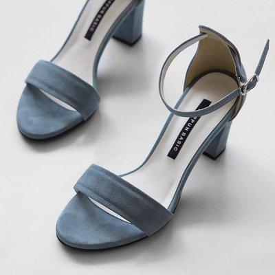 涼鞋女2020新款仙女風網紅少女小清新粗新跟中跟時尚高跟鞋夏天百搭 全館免運