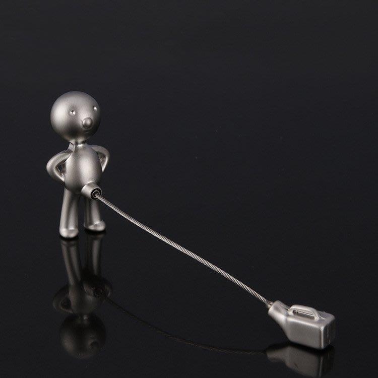 LIOU栗欧~mr.p尿壺鑰匙扣豆豆搞怪先生個性汽車鑰匙鍊金屬鋼絲鑰匙圈包郵