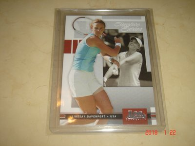 職業網球 Lindsay Davenport 2005 Ace Authentic  #2 球員卡