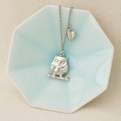 [ Cami Handicraft ] 貓頭鷹短鏈 - 純銀款 手作商品 趣味創意風格 文青最愛 與眾不同