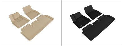 DIP 3D 卡固 立體 腳踏墊 極緻 紋理 防水 TESLA 特斯拉 Model S 五門 17+ 專用