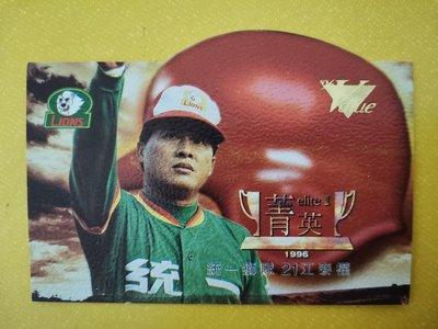 96年威力卡~E13統一獅隊江泰權菁英卡(限量編號0641/3000)