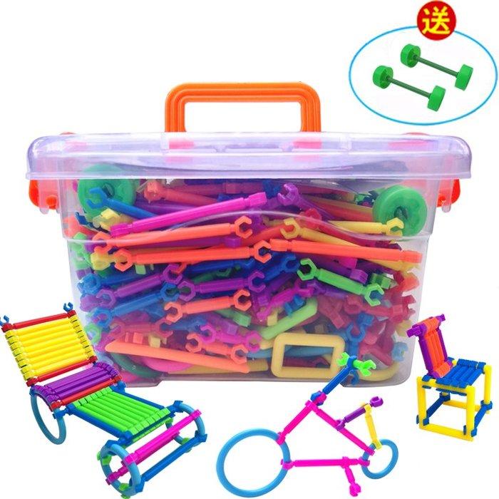 聰明積木棒拼裝兒童益智玩具3-6周歲男孩7-8-10歲1女孩2智力4拼圖