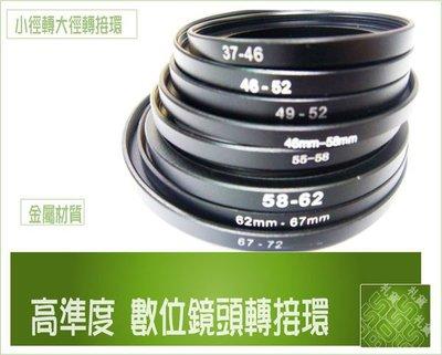 『BOSS』專業濾鏡轉接環43mm轉46mm 43mm轉52mm 46mm轉58mm 46mm轉52mm【鋁合金轉接環】