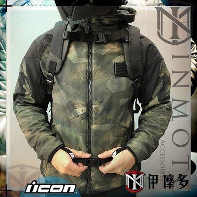 伊摩多※美國 iCON MERC BATTLESCAR防摔衣 D3O護具 通風拉鍊 防潑水連帽外套 春夏秋休閒版 。綠